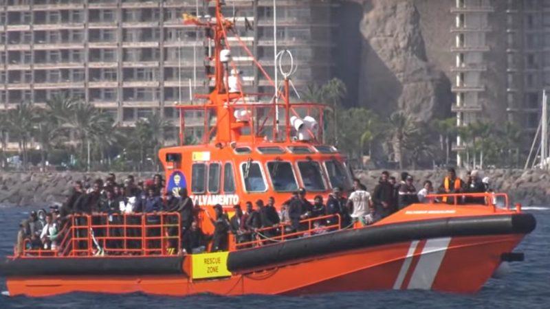 Salvamento Maritimo Migrantes Canarias