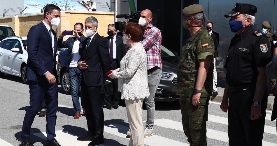 Sánchez transmite en su visita a Ceuta la garantía de la seguridad de la ciudad y sus residentes